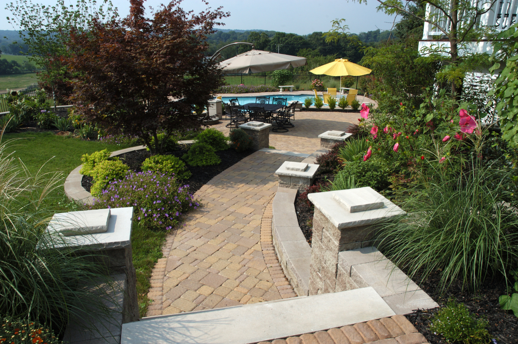Photo gallery for Low maintenance backyard landscaping